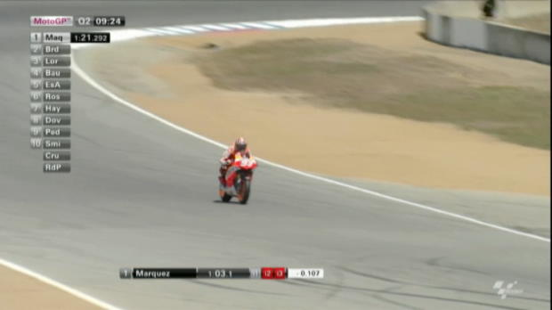 Bradl secures pole