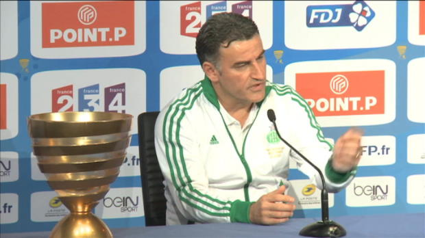 Finale CDL - ASSE, Galtier salue les 'Ans' stphanois