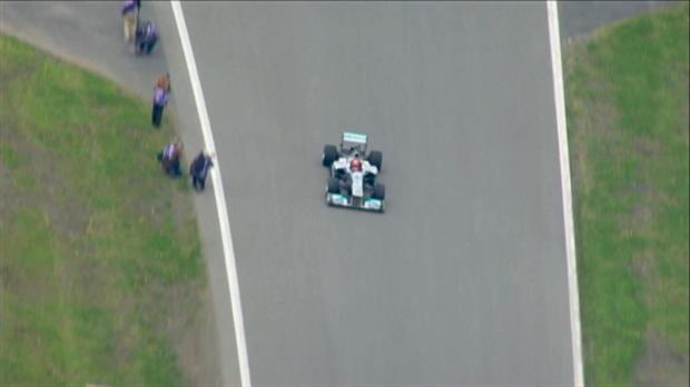 Schumacher back behind the wheel