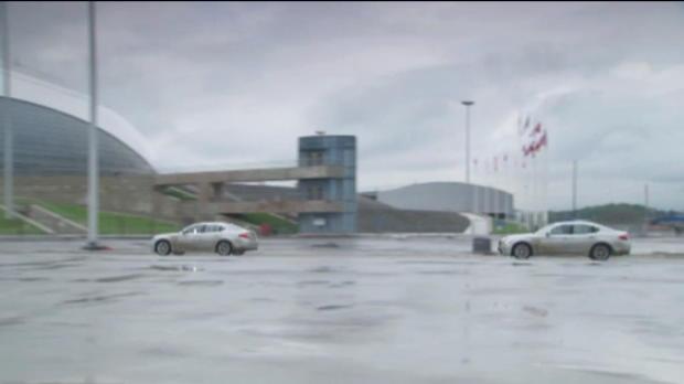 Vettel tests new Sochi track