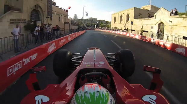 Go for a ride with Giancarlo Fisichella in Jerusalem