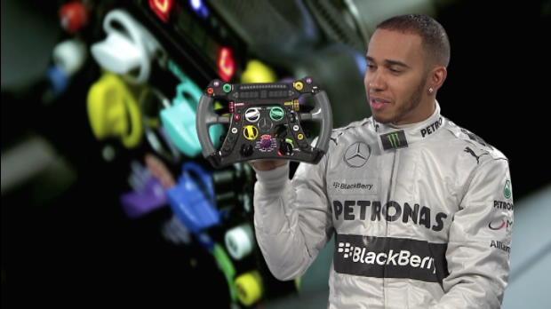 Lewis Hamilton's F1 steering wheel