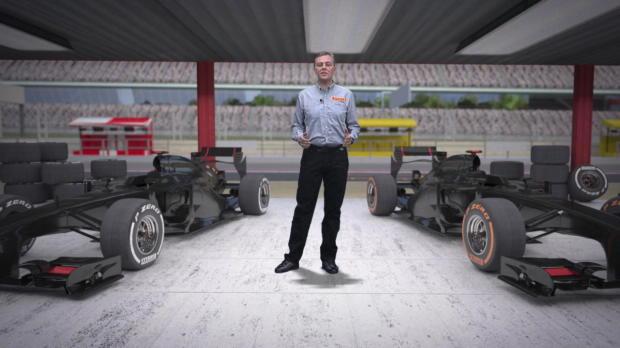 Measuring F1 tyre wear