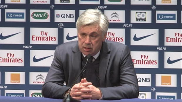 PSG - Ancelotti : 'Montpellier, une quipe dangereuse'