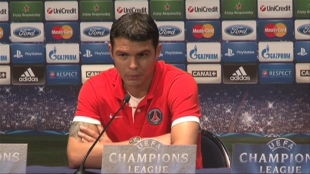 LDC - PSG, Thiago Silva : 'Plus concentr� qu'en Ligue 1'