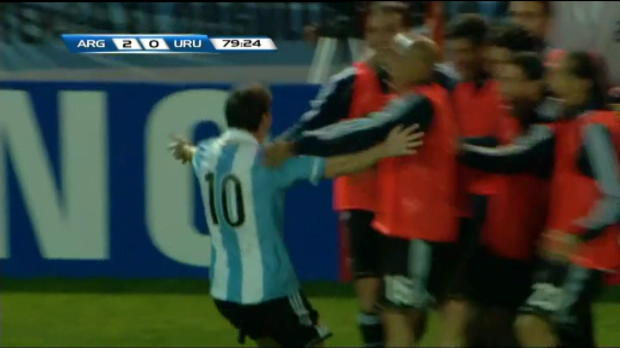 Vido - Qualif CdM - Messi rgale contre l'Uruguay