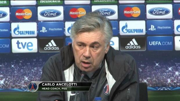 LDC - PSG, Ancelotti : ''Moins de pression, plus de confiance''