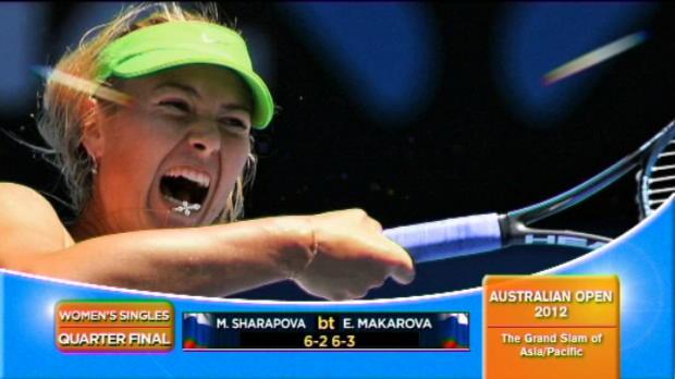 Vidéo - Sharapova et Kvitova en demie