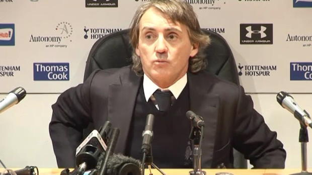 P.League - Man City, Mancini : 'Le comportement de United est meilleur'